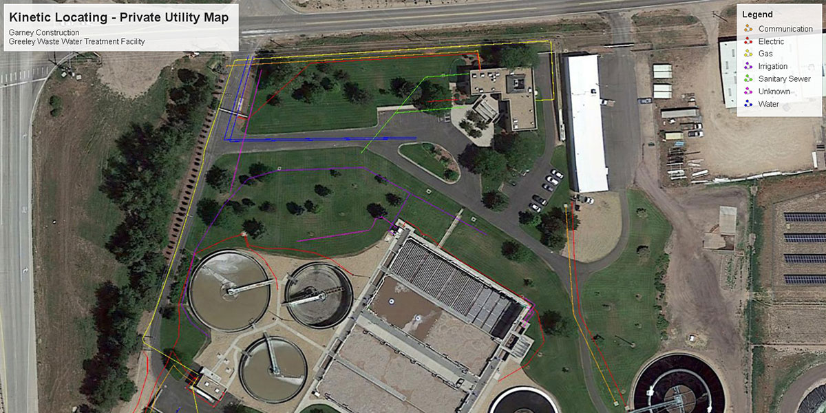 Private Utility Locates and Hydrovac in Greeley, CO at the Wastewater Treatment Plant