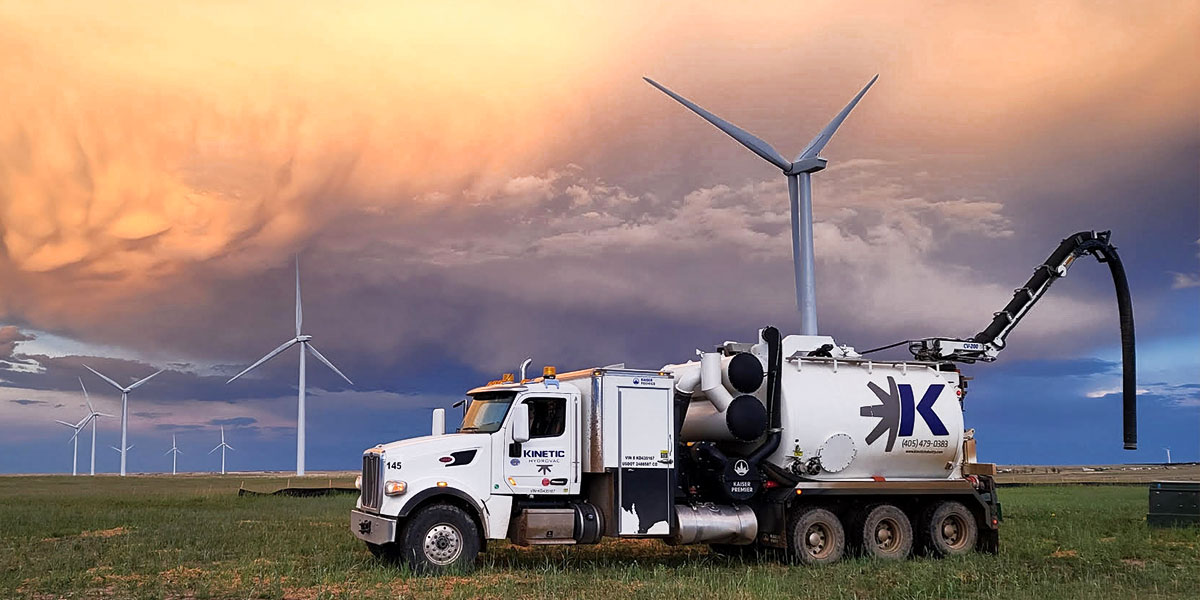 Time Sensitive Night Work: Hydrovac Trench at Wind Farm Near Calhan, Colorado